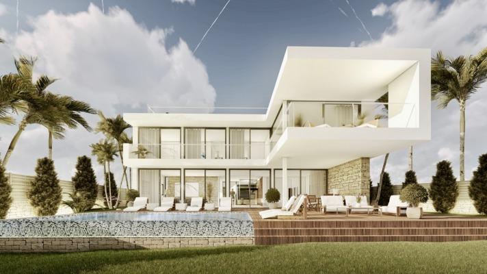 Neubauprojekt einer modernen Villa in Strandnähe