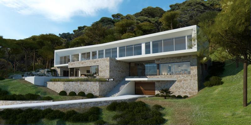 Neubauprojekt einer modernen Villa in ruhiger Lage von Sol de Mallorca