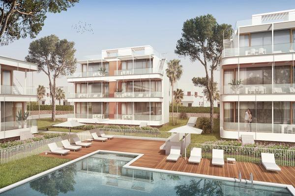 Neubauwohnungen bei der Badebucht Cala Egos in Cala D'Or