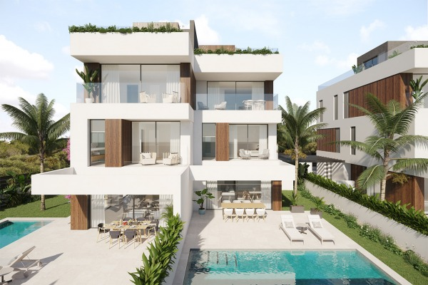 Moderne, luxuriöse Neubau-Doppelhaushälften mit Meerblick in Portocolom