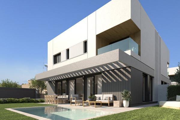 Neubau Doppelhaushälften mit privatem Pool und Teilmeerblick
