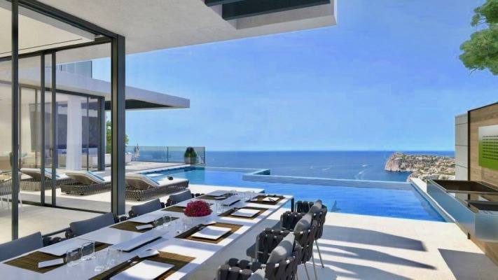 Luxuriöser Villen-Neubau mit unvergleichlichem Blick über Cala Llamp