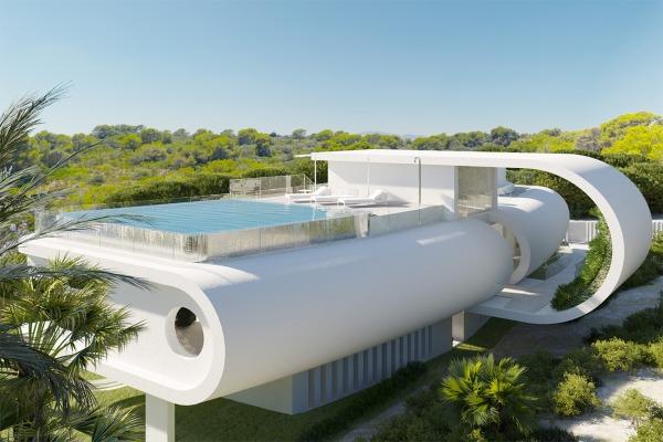 Einzigartige Designer-Luxusvilla in 1. Meereslinie in einer kleinen Badebucht