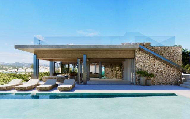 Villa Neubau mit Meerblick in exzellenter Lage von Nova Santa Ponsa